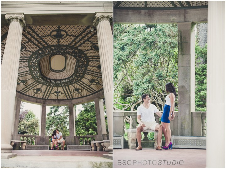 Harkness Memorial park engagement phtographer