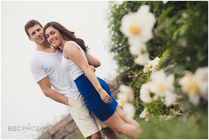 Modern romantic CT enagement photography Harkness Memorial Park