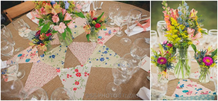NY wild flowers wedding