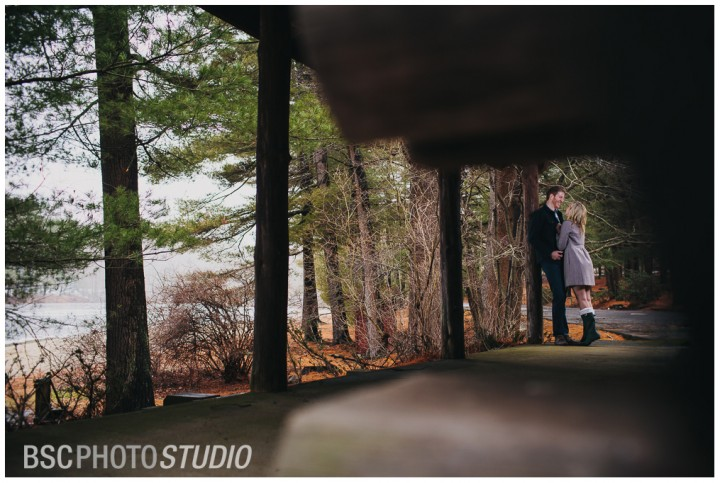 Log cabin creative CT engagement photography