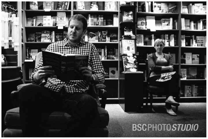 RJ Julia Booksellers bookstore engagement photography Middlesex County