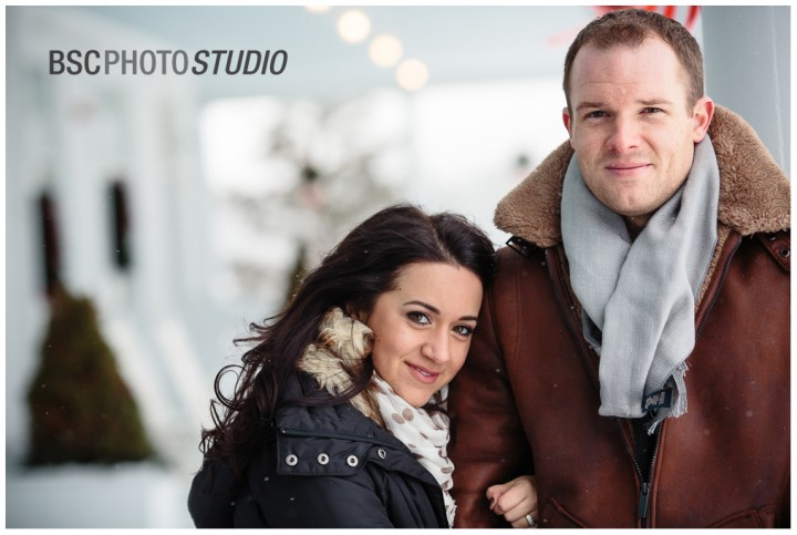 Creative winter engagement photography