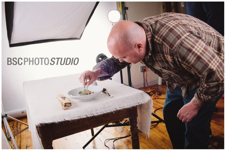 Chef Tyler Anderson at CT food photo shoot