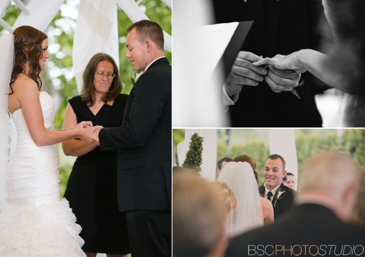 Wedding ceremony photography at The Riverview in Simsbury CT