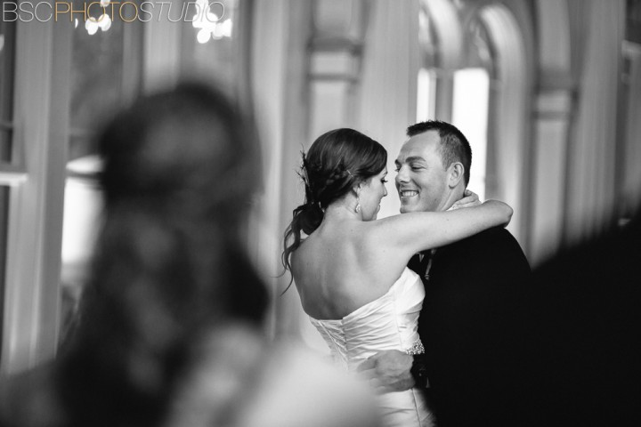 Connecticut romantic connecticut bride and groom first dance photo
