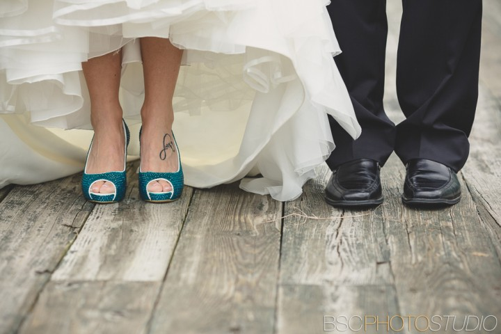 Creative modern Connecticut wedding photographer ctue blue shoes
