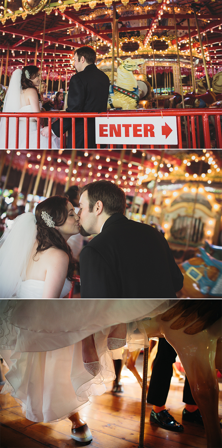 creative wedding photographer Hartford Connecticut Bushnell Park carousel