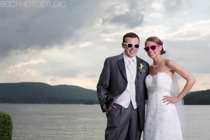 Modern beautiful CT wedding pictures Candlewood Inn sunglasses