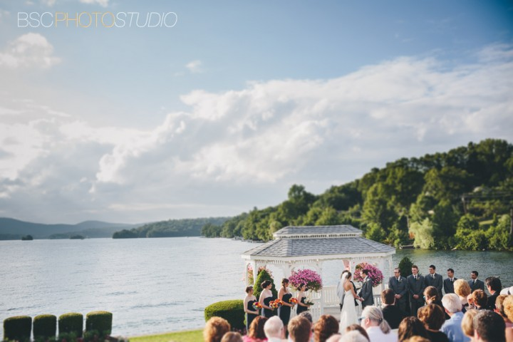 unique Connecticut wedding documentary photographer Ceremony at Candlewood Inn in Brookfiled