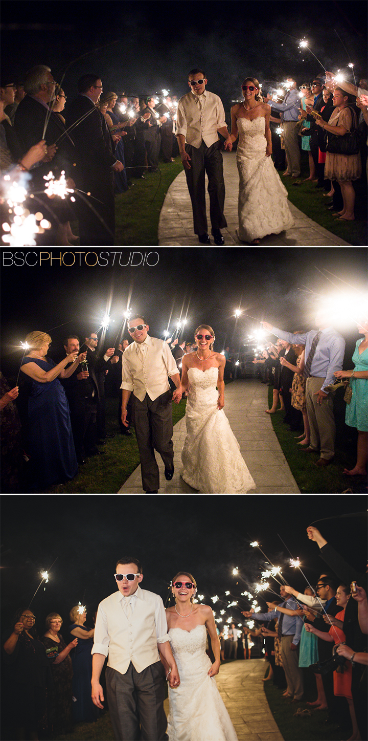 creative awesome sparkler send off at wedding reception Candlewood Inn Brookfiled Connecticut