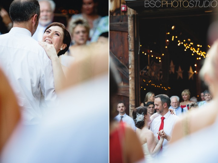 modern cool off beat Connecticut barn wedding reception first dance photo