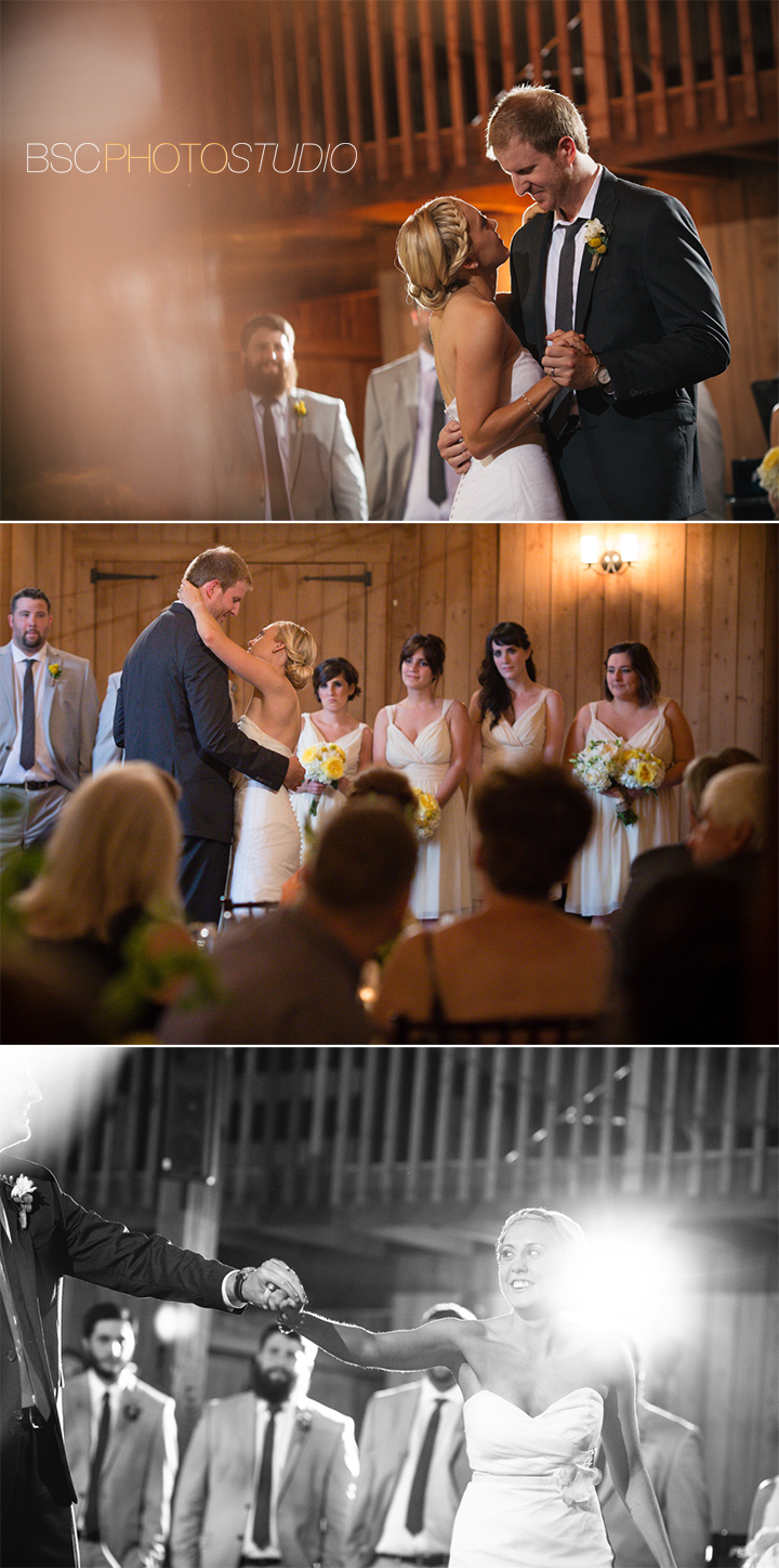 fun unique wedding reception photos at The Barns Weslyan Hills CT photographer first dance