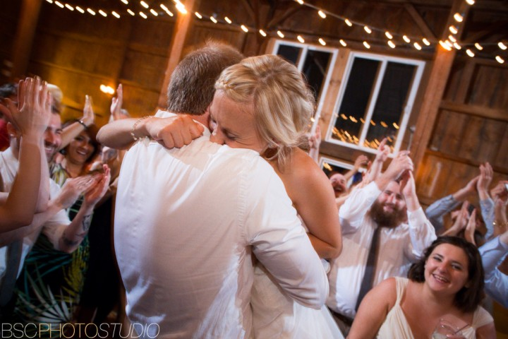 fun unique wedding reception photos at The Barns Weslyan Hills CT documentary photographer