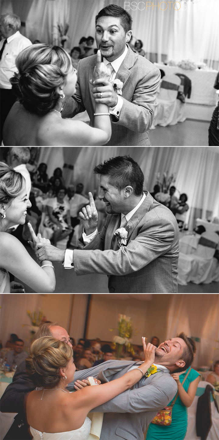 fun unique and modern wedding reception photos at Portuguese American Club Waterbury, CT