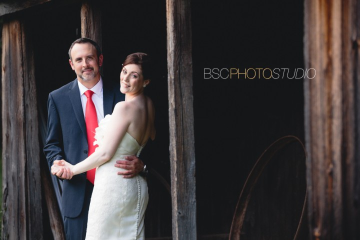 creative CT wedding photographer romantic barn bride and groom picture