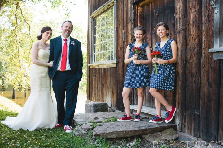 CT barn wedding photos red white blue