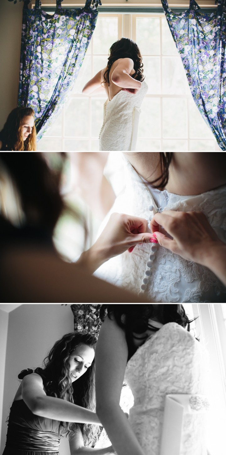 Connecticut modern wedding documentary wedding dress bride photographer