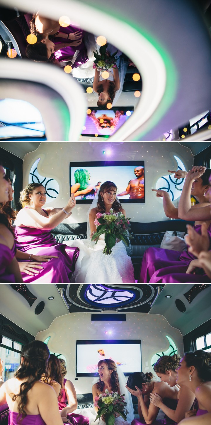 fun boutique CT wedding part bus documentary photography