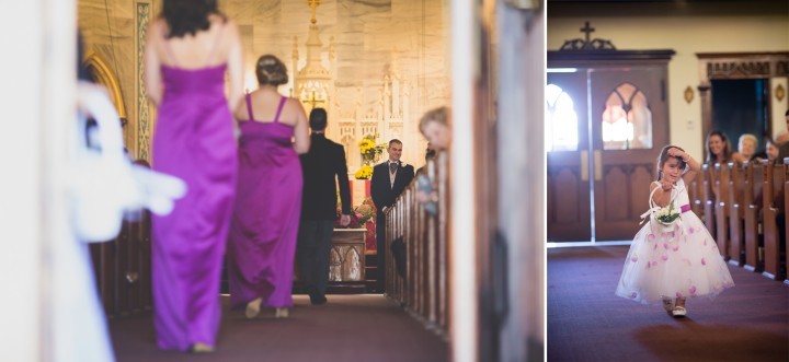 Saint Josephs Church Shelton Connecticut wedding ceremony photographer
