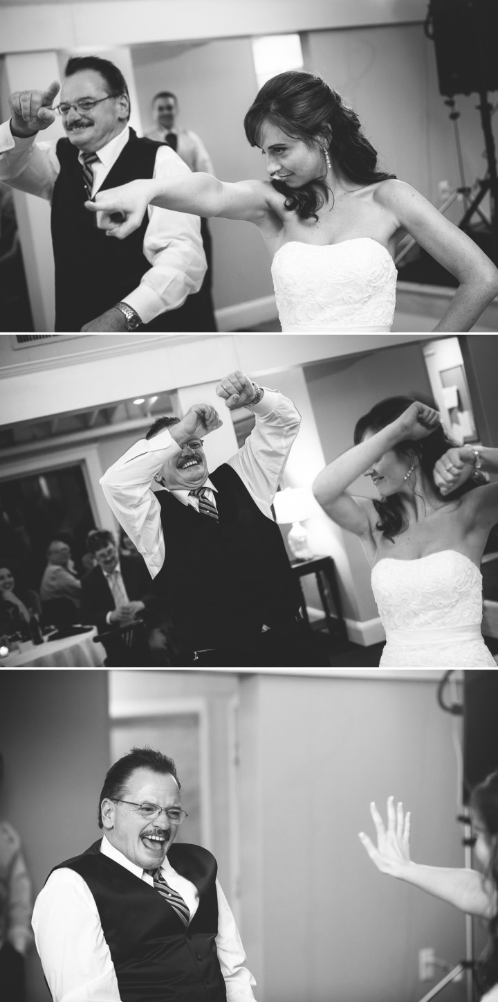 Fun father daughter dance CT wedding photography