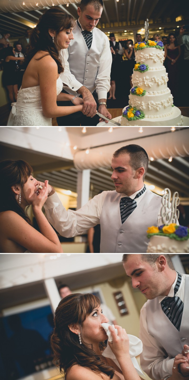 Milford Yacht Club Reception Connecticut Creative modern wedding documentary photography cake