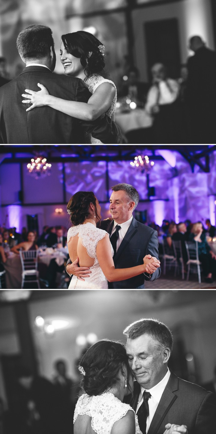 Documentary wedding reception photography father daughter dance in Farmington CT