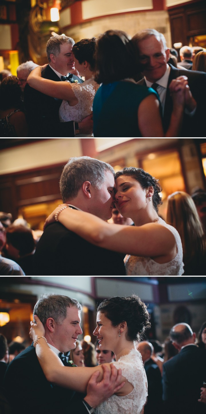 Romantic Connecticut wedding reception documentary photography at The Society Room