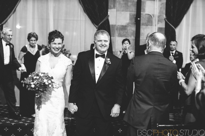 Beautiful Connecticut wedding ceremony documentary photography at The Society Room of Hartford